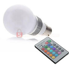 B22 LED Light Bulb Multi-color Wireless Controller Club Dancing Stage Party 3W