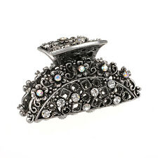 Metal Hair Clip Crystal Rehinstone diamond Hair Claw Silver Plated Hair Clamp