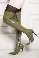 Unisex spike heel latex thigh high bounced latex boots EU39-44 Preorder