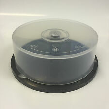 25 Disc Storage Capacity CD DVD Empty Spindle Tub Cake Box Case UK ++ NEW++