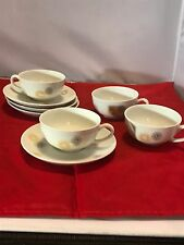 SPINDRIFT BY HOLIDAY CHINA GERMANY SET (s) OF 4 DESSERT COFFEE CUP & SAUCER