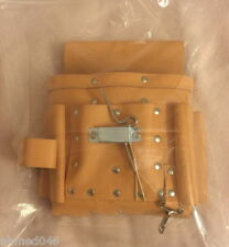Electrician's Leather Tool Pouch in Beige Colour + Free Utility Belt Save ££££