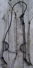 Bit - Black Satin Gag with Wire Twist