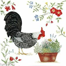 Alice's Cottage Cotton Flour Sack Kitchen Tea Towel Black Rooster - NEW