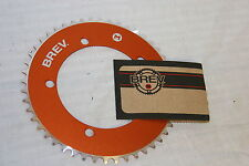 Brev. M Masi Fixie Fixed Gear ChainRing Sprocket Chain Ring 44t Orange 130 BCD