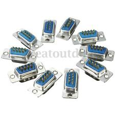 10 Pcs DB9 RS232 Serial Port 9 Pin Female Male Soldering Plug Connector