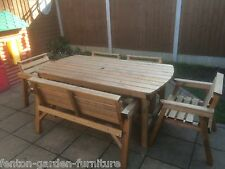 NEW Solid  Wooden Garden Patio Furniture 6 ft table 1 Bench and 4 Chairs