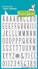Lawn Fawn Clear Stamp Set of 73  VIOLET'S  ABC'S Alphabet Set Upper Case LF732