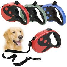 Retractable Extendable Dog Lead Leash Cord Tape Large 8M Extending