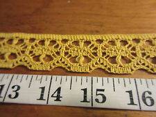 VTG lace look flat old gold trim 1 1/8'' wide  polyester 7 yards