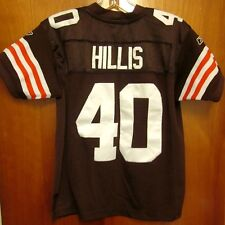 CLEVELAND BROWNS youth med Peyton Hills football jersey 2011 Reebok beat-up #40