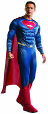 Deluxe Superman Adult Costume Batman v Superman Dawn of Justice Size XLarge