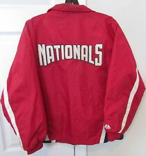 MLB Washington Nationals Full Zip Jacket Size Youth Large by Majestic EUC