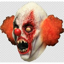 Clown Creepy Full Head Latex Mask with Hair Fancy Dress Halloween Adult