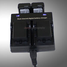 Dual Charger +4x Battery NP-FW50 for Sony NEX-3N NEX-5T NEX-6 A3000 A5000 A6000