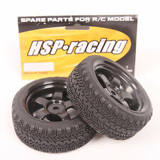 New Lot 4 pcs RC Tires & Wheel Rim Fit HSP HPI 1:10 On Road Car RedCat 6030