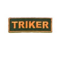 TRIKER  BIKER CHOPPER 3 WHEELER EMBROIDERED PATCH
