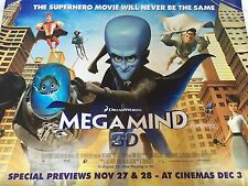 Megamind Original Uk Quad Poster