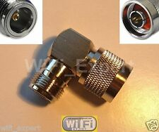 N Male plug to N Female jack right angle 90° L Type RF Adapter Connector USA