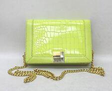 TED BAKER Ladies Neon Yellow Reptile Effect Leather Small Cross Body Bag