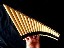 PROFESSIONA NATIVE  STYLE ANDEAN PAN FLUTE PIPES &  LISTEN TUNABLE  ZAMFIR  NEW