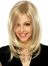 CHENSW49   new pretty style medium straight blonde fancy hair wigs for women wig