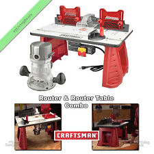 Craftsman Router & Router Table Combo Benchtop Portable Wood Woodworking Routers