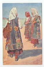 RUSSIE Russia Théme Types russes costumes personnages 3 femmes A.KASPAR
