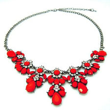Stylish Charm Jewelry Crystal Chunky Statement Bib Pendant Chain Choker Necklace