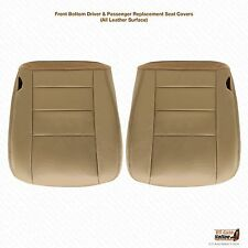 2004-2005 Excursion Limited Driver & Passenger Bottom Leather Seat Cover's Tan