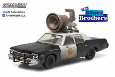 "Greenlight 1:43 Blues Brothers 1974 Dodge Monaco""Bluesmobile Horn on Roof"