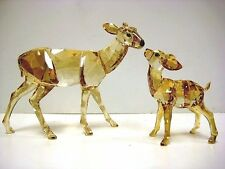 DOE AND FAWN CRYSTAL GOLDEN SHADOW 2012 SWAROVSKI DEER  #1142843