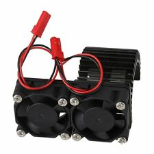 RC1:10 Car Black N10074 Aluminum Alloy 540 550 Motor heatsink 2 Cooling Fans