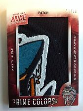 Antti NIEMI Panini Prime Colors Patch 11/20 4-CLR Sharks Jaws!! SHARKS/HAWKS