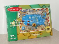 """MELISSA & DOUG'S """"MAP OF THE UNITED STATES"""" PUZZLE - NEW IN FACTORY SEALED BOX"""