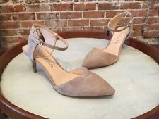 Sole Society Taupe Suede Laurent Ankle Strap Pumps 9.5 10 NEW