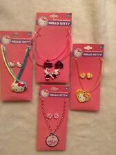 Hello Kitty Necklace and Earring Lot - Bottlecap, BFF, Best Friends