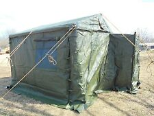MILITARY SURPLUS TENT MODULAR COMMAND POST WITH FLOOR 11x11  NEWEST STYLE ARMY