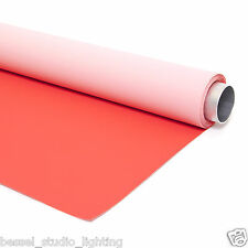 Bessel 1.45m x 5m Portable Car Size Double Sided Red & Pink Background Vinyl