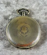 ANTIQUE/ESTATE HALLMARKED STERLING SILVER POCKET WATCH BIRMINGHAM 1925