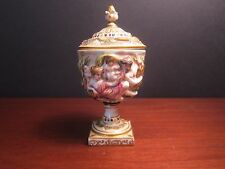 Antique Capodimonte Porcelain Urn With Lid Possibly Ginori - Rare 19th Century