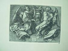 Albrecht DURER VINTAGE sudarium incisione su rame con due angeli