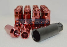 Kode Shop-RED Extended Long Steel Wheel Lug Nut 12x1.25 fits Nissan S14 S15