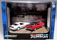 DIORAMA HOT PURSUIT CATOOSA SHERIFF '78 PONT TRANS AM '71 DODGE CHALLENGER #12