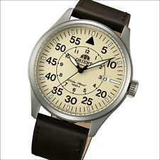 Orient Tan Dial 21-Jewel Automatic Flight Watch, SS Case #FER2A005Y, ER2A005Y