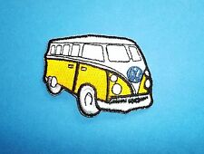 `VW CAMPER VAN YELLOW` SEW OR IRON ON PATCH