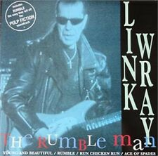 """LINK WRAY Rumble Man 7"""" Vinyl EP Picture Sleeve - Ace of Spades Run Chicken Run"""