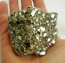 NATURAL A-GRADE PYRITE FOOLS GOLD CRYSTAL SPARKLY DRUZY CUBES 249g 65mm st141