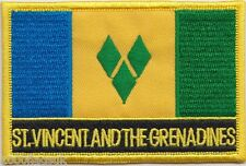 Saint Vincent and the Grenadines Flag Embroidered Patch Badge - Sew or Iron on