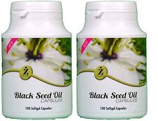 Black Seed Oil 100 Capsules ZamZam 100% Halal Natural Excellent Health Pack of 2